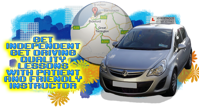 get driving lessons Bideford with Kevin Reynolds Approved Driving Instructor